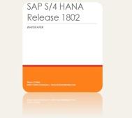 SAP S4 HANA Release 1802
