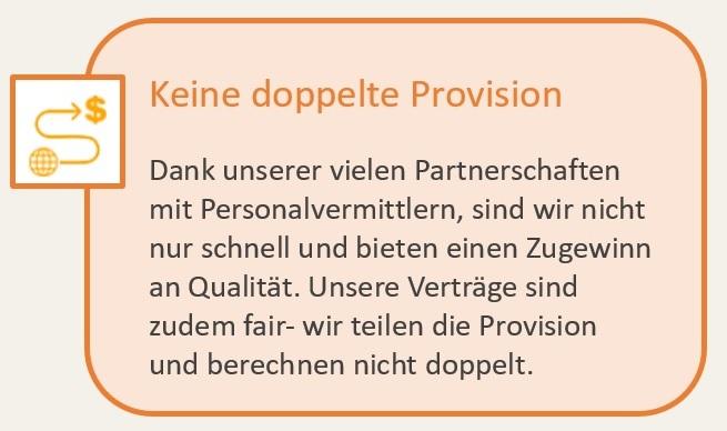 Keine Doppelte Provision