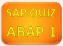 SAP Quiz ABAP 1