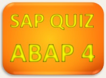 SAP Quiz ABAP 4