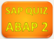 SAP Quiz ERP ABAP 2