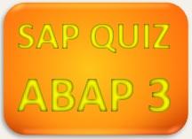 SAP Quiz ERP ABAP 3