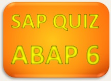 SAP Quiz ERP ABAP 6