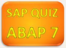 SAP Quiz ERP ABAP 7