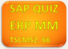SAP Quiz ERP MM TSCM52_66