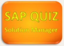 SAP Quiz Solution Manager