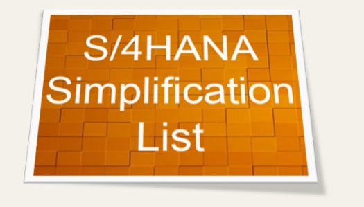 SAP S4HANA Simplification List